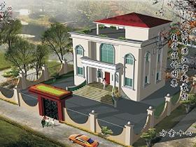 一套两层20米高的农村自建别墅建筑设计图免费下载