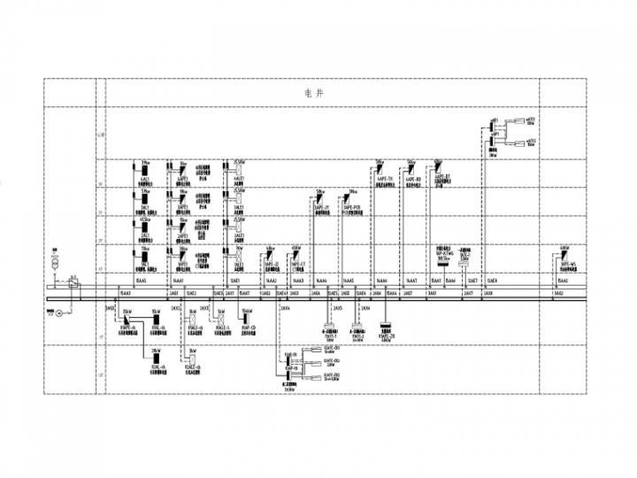 [一键下载]10套医院建筑电气施工图合集-[重庆]医院门急诊综合楼电气图纸(2020.9)-4竖向配电干线系统图_副本