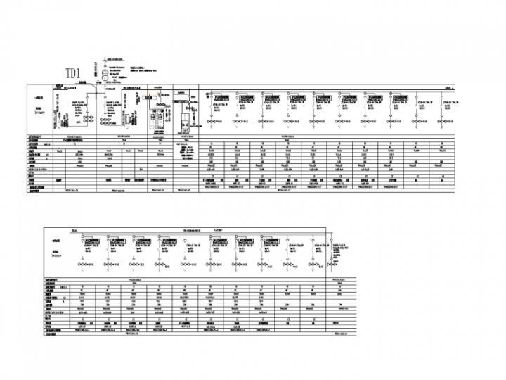 [一键下载]10套医院建筑电气施工图合集-[重庆]医院门急诊综合楼电气图纸(2020.9)-5低压配电系统图_副本