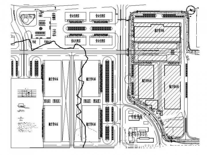 [重庆]国际机场保税港区室外燃气管网施工图-室外燃气管道平面图